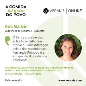 A Comida Pelas Palavras - Ana Garbin